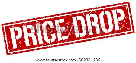 price drop. grunge vintage price drop square stamp. price drop stamp.