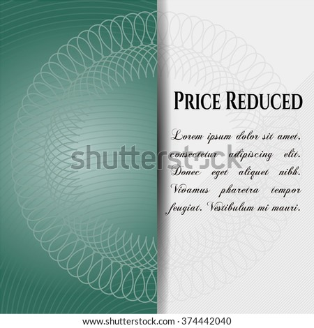 Price Reduced colorful card, banner or poster with nice design