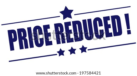 price reduced grunge stamp with on vector illustration