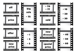 price set vector on fimstrip for web design