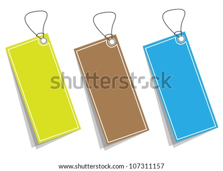 Price tag collection. Vector