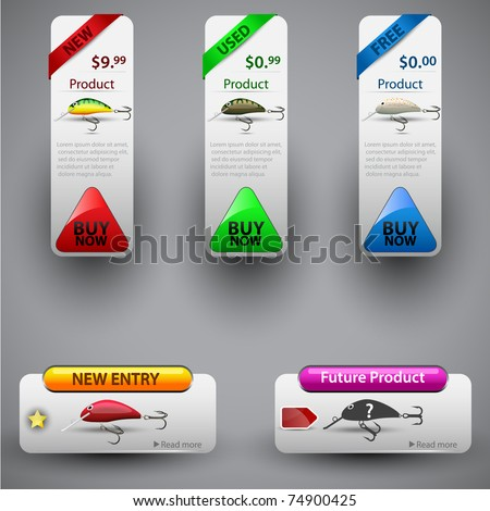 Price tag for product sale. Easy to remove | change | replace any part, color. Vector illustration.