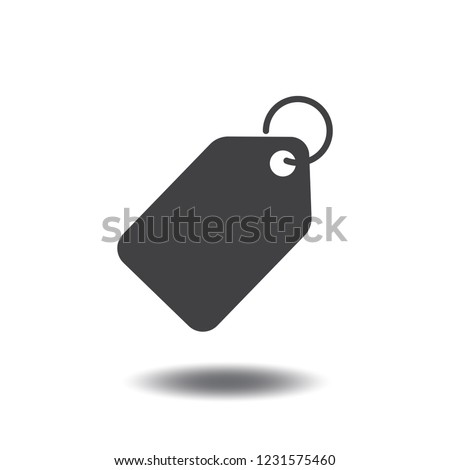 Price tag icon vector or sales label monochrome flat sign symbols logo illustration isolated on white background black color.Concept business for promotions, discounts.