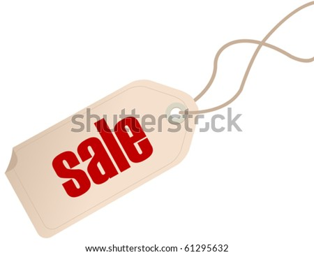 Price tag isolated over white background