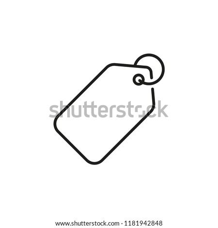 Price tag. Vector icon on line art style