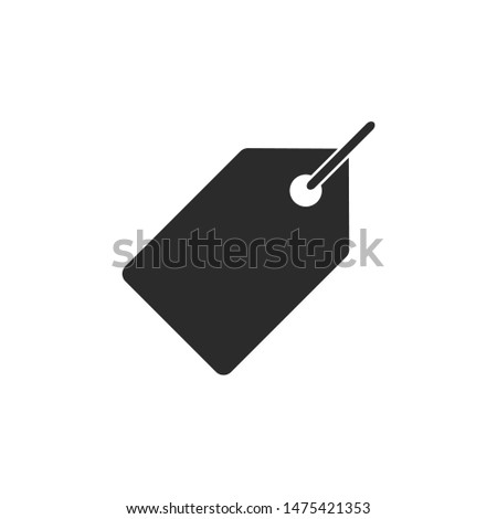 Price tag vector sign isolated on white background. Price tag symbol template color editable