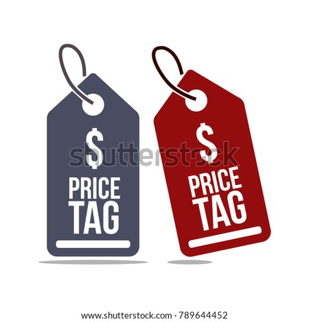 Price Tag Vector Template Design #789644452