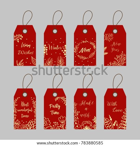 Price Tags And Gift Cards For New Year Holidays Ez Canvas