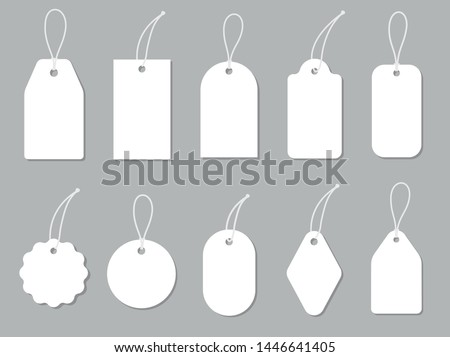 Price tags collection. Paper labels set. Vector