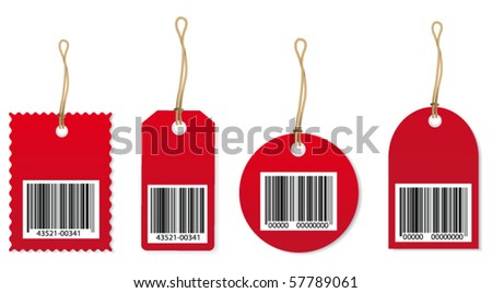Price tags. Vector
