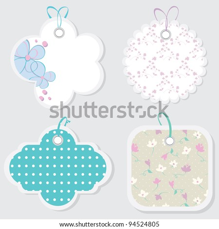 Price tags vector.