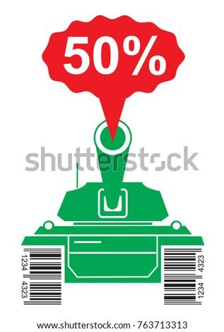 price war battle tank green