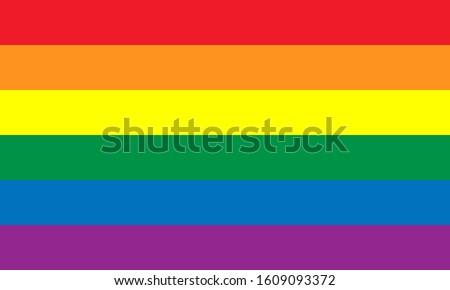 Pride Celebrating LGBT culture symbol. LGBT flag vector design.