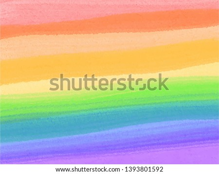 Pride colors on a watercolor rainbow spectrum flag, homosexuality emblem vector. LGBT rights concept. Love. Rainbow colors.