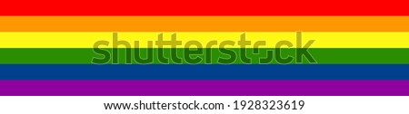 Pride Flag Banner. Wide Horizontal Pride Flag Rainbow Banner Vector Design Element  Stockfoto ©