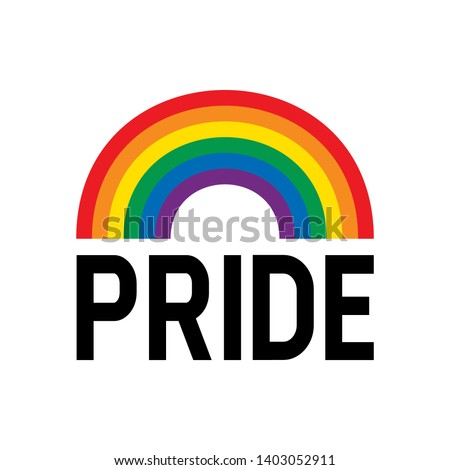 Pride month rainbow flag symbol. Pride month event celebration isolated on white background.