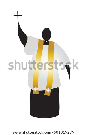 priest  abstract silhouette of