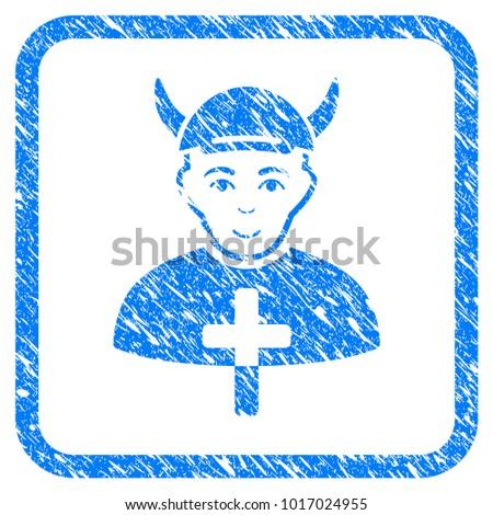 priest devil rubber stamp...