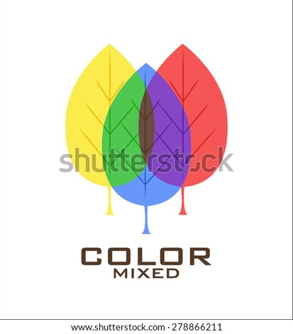 primary color leaves logo