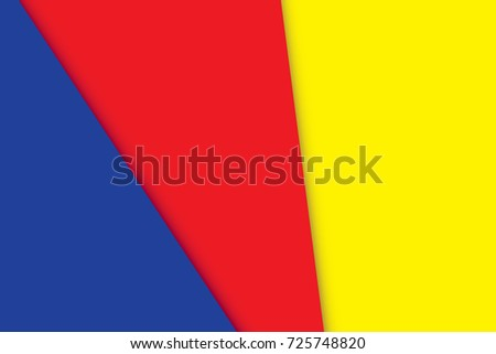Primary colors background, blue, red, and yellow. Vector illustration.
