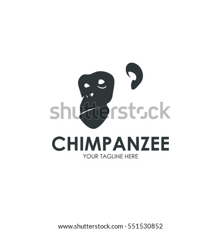 Primate, monkey, gorilla simple modern logo design concept