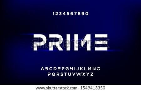 Prime Bold modern futuristic sans serif font vector design. eps10 Stockfoto ©