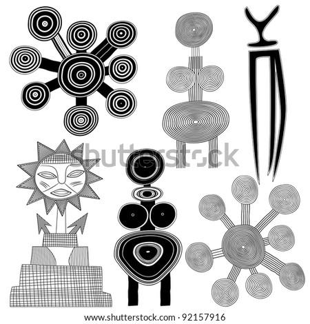 Primitive Folk Patterns By Dee Duncan