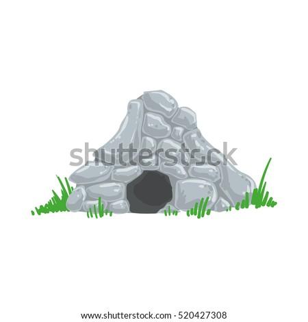 primitive stone age cave