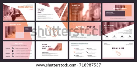 Primrose Pink and Brown elements on a white background. This template is the best as a business presentation, used in marketing and advertising, the annual report, flyer and banner