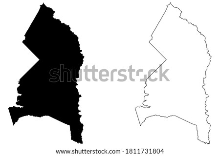 Prince Georges County, Maryland (U.S. county, United States of America, USA, U.S., US) map vector illustration, scribble sketch Prince George's map
