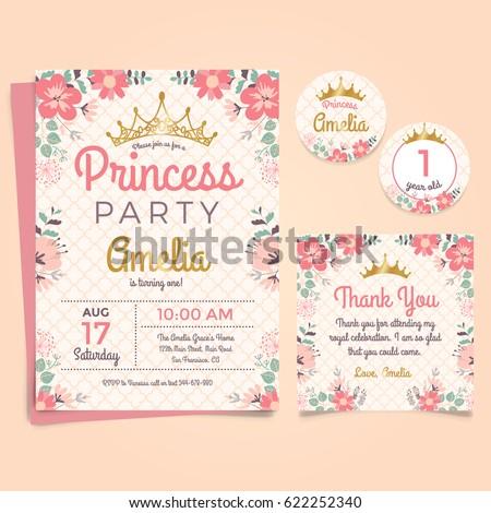 Princes Party Birthday Invitation