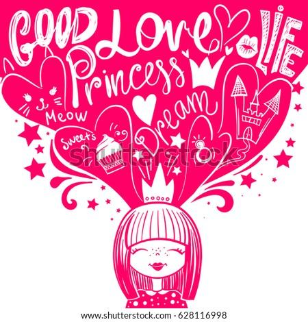 princess and dreams  hearts