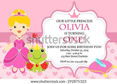 Cute invitation template download free vector art stock graphics princess birthday party invitation vector stopboris Choice Image