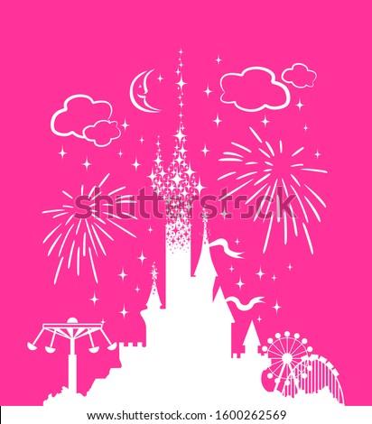 princess castle fantasy pink