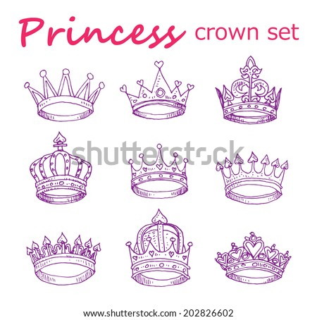 how to draw a easy princess crown