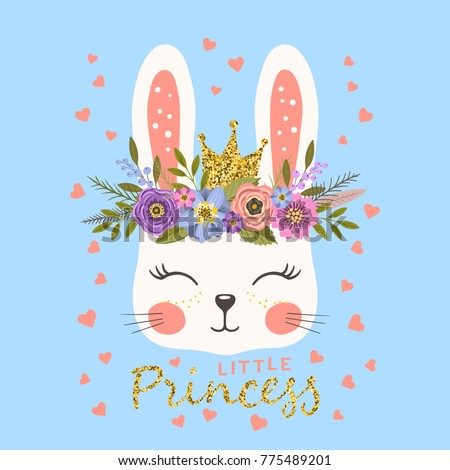 princess cute bunny with crown