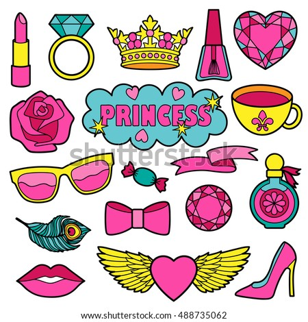 princess fashion patches