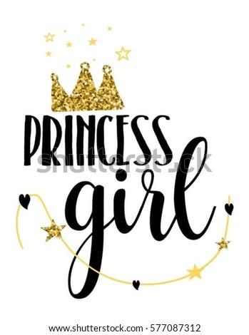 princess girl typography