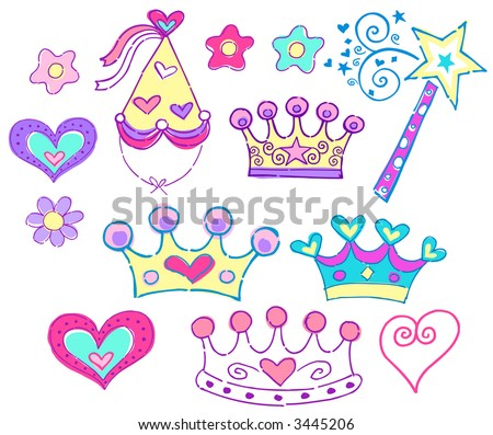 princess hats amp tiara vector illustration 3445206