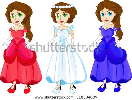 princess in different beautiful