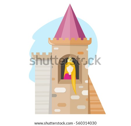 princess in the castle vector