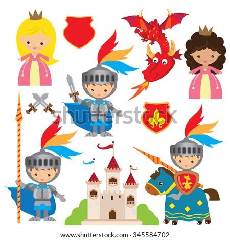 princess  knight and dragon