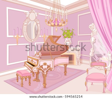 princess music room in a palace