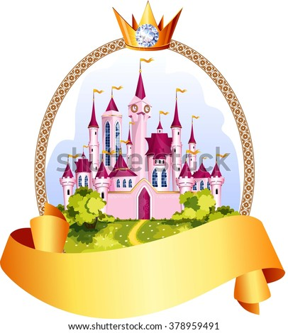 princess pink castle frame with