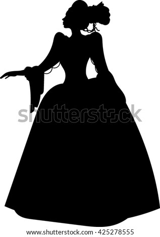 vector images illustrations and cliparts princess silhouette