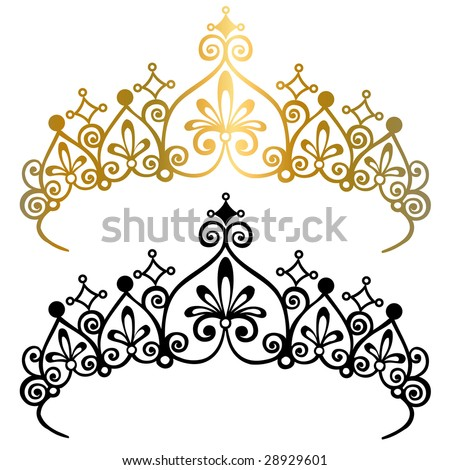 Stock Vector on Princess Tiara Crown Vector Illustration   Stock Vector