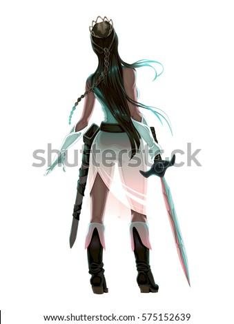 princess warrior with sword