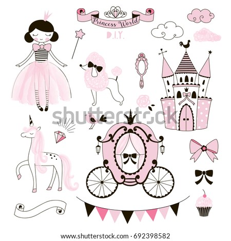 Princess World clip art kit