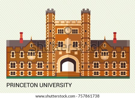 Princeton University. Vector Illustration.