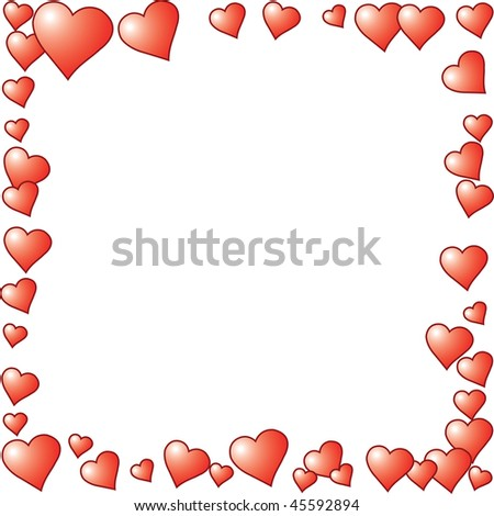 print-holder with hearts with a white background #45592894